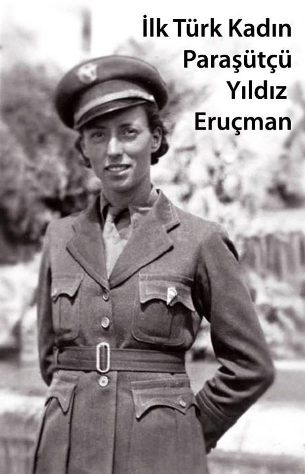 İlk Türk kadın paraşütçü, Yıldız Eruçman.